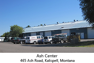 Warehouse rentals in Kalispell, Montana. Ash Center 465 Ash Road, Kalispell, Montana.  Office/Commercial Rentals in Flathead Valley, Montana.