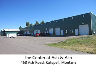 Affordable Kalispell warehouse rentals. The Center at Ash & Ash 468 Ash Road, Kalispell, Montana.  Premimum Montana warehouse rentals in Kalispell.